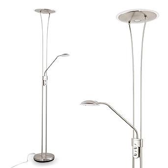 Lampadaire de salon LED Marana avec éclairage indirect vers le ...