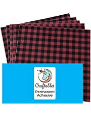 Buffalo Plaid Pattern Self Adhesive Craft Vinyl Printed Sheets for Cricut, Silhouette, Cameo, Decals, Signs, Stickers By Craftables