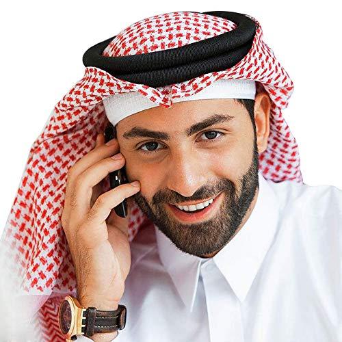 YI HENG MEI Muslim Men's Shemagh Scarf Arab Tactical Desert Wrap Collar Head Shawl Turban,122795