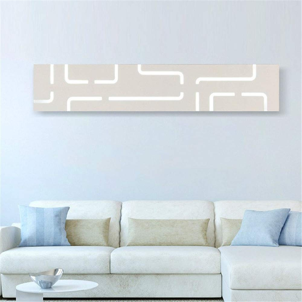 Einfache led wandleuchte Treppenhaus wohnzimmer hintergrund wandleuchte Rechteckige acryl spiegelfrontleuchte, warmes licht, 40 cm