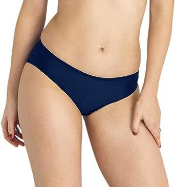 Modibodi RED Swimwear Bikini Pants - Navy Light-Moderate Absorbency