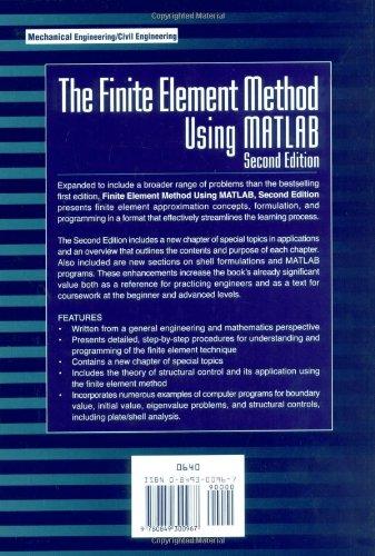 Buy The Finite Element Method Using MATLAB, Second Edition