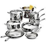 Tramontina 80116/568DS Stainless Steel Tri-Ply Clad Cookware Set, 14-Piece, Made in China For Sale