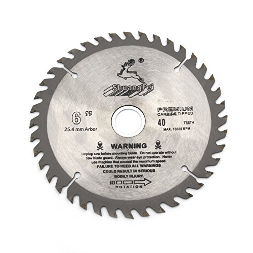 """6""""inch(150mm) 40 Tooth Carbide Tip General Purpose Cutting Circular Saw Blade for wood working"""