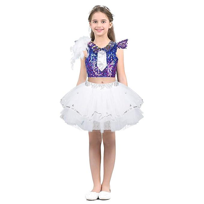 ranrann Maillot de Ballet Niña Vestido Tutú de Danza Jazz ...