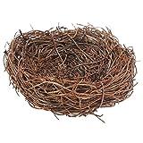 SODIAL(R) Handmade Vine Twig Bird Nest Home Nature Craft Holiday for Photo Garden Decor