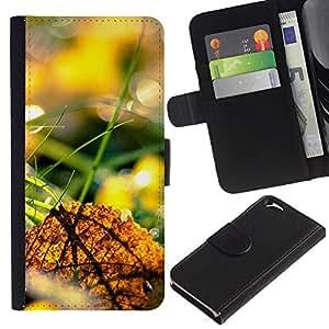 Ihec-Tech / Flip PU Cuero Cover Case para Apple Iphone 6 4.7 - Nature Beautiful Forrest Green 44