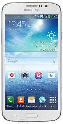 Samsung Galaxy Mega I9152P 5.8'' Android Smart Phone (Unlocked) - Dual-core 1.4 GHz, Dual Camera with Flash (8MP/1.9 MP), Dual SIMs - White by Samsung