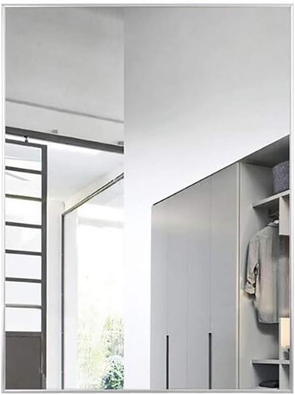 JKAD Cuarto de baño Espejo de Pared Hotel Familiar Sencillo y Elegante A Prueba de explosiones, Alta resolución Cuadrado Montado en la Pared Espejo Marco de aleación de Aluminio HD Maquillaje Espejo: