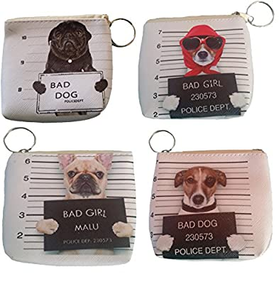 Bad Dog Mugshot Cute Coin Purse Dog Themed Wallet Perfect Gift for Dog Lovers