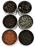 Loose Leaf Tea Sampler Gunpowder Green Tea, Lychee Congou Loose Tea, Rooibos Herbal Tea, and More, Loose Tea Sampler