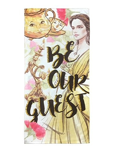 Disney Beauty & The Beast Be Our Guest 100% Cotton Bath/Pool/Beach Towel (Official Disney Product)