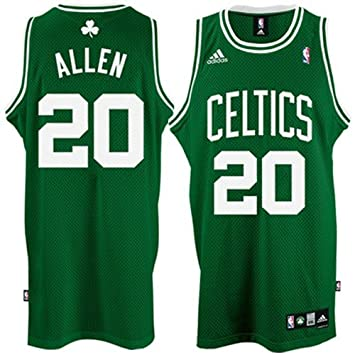 6ccd96010 Ray Allen Jersey  adidas Green Swingman  20 Boston Celtics Jersey   Amazon.co.uk  Sports   Outdoors