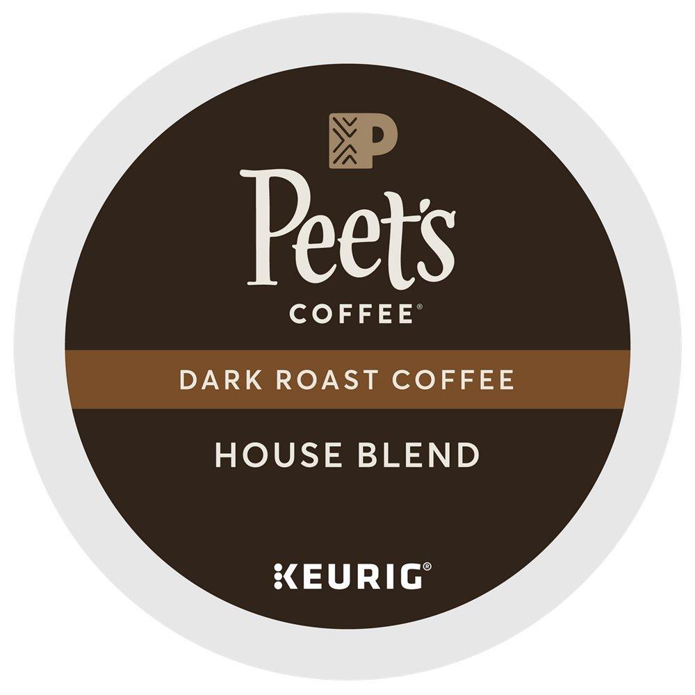 Peet's Coffee House Blend, Dark Roast, 60 Count Single Serve K-Cup Coffee Pods for Keurig Coffee Maker by Peet's Coffee