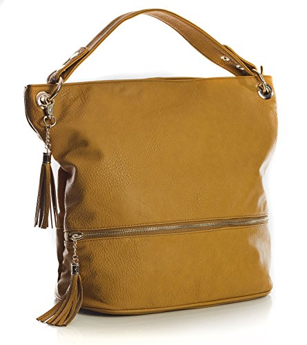 Womens 1 Tan Shopper Bag Light Shop Vegan Handle Leather Tote Large Design Shoulder Big Handbag Top Size wA6RpxaEq