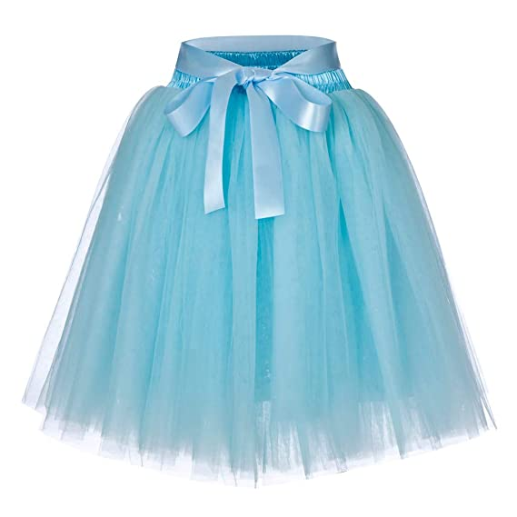 PARVAL Mujeres Falda Plisada de Tul para Mujer Falda Corta ...