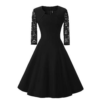 Mena UK Vintage de los años 1950 estilo de encaje vestido de longitud de la rodilla