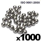 1/4'' Inch (0.25'') Precision Chrome Steel Bearing Balls G25 (1000 PCS)