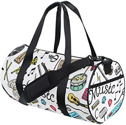 ボストンバッグ 音楽柄 ジムバッグ ガーメントバッグ メンズ 大容量 防水 バッグ ビジネス コンパクト スーツバッグ ダッフルバッグ 出張 旅行 キャリーオンバッグ 2WAY 男女兼用