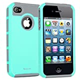 KoreCase Armor Series Dual Layer Protection Case for Apple iPhone 4 and 4s - Blue Grey