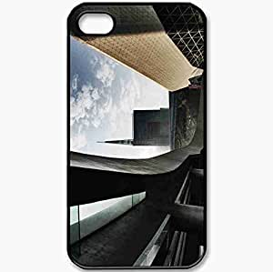 Protective Case Back Cover For iPhone 4 4S Case Architecture Building Black