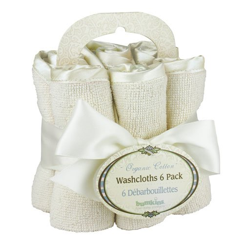 OrganicWashcloth Bumkins 6 - Pack, naturel