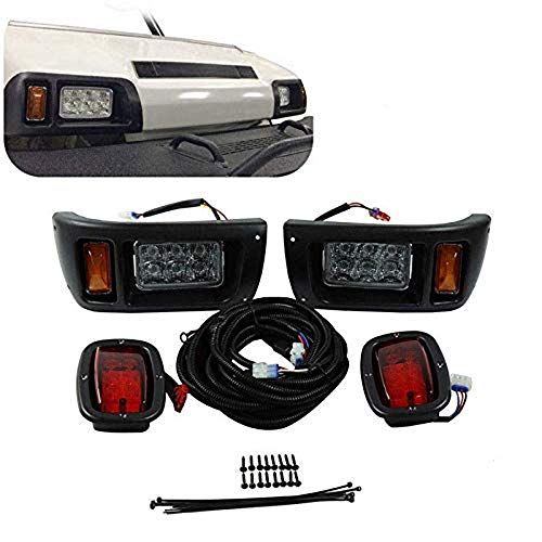 kemimoto Club Car DS Light Kit, LED Headlight & Tail Light for Gas & Electric Club Car DS Golf carts (1993 & up) 12V (Club Car Golf Cart Tail Lights)