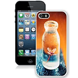 Personalized Phone Case Design with Flower In A Glass Jar iPhone 5s Wallpaper in White