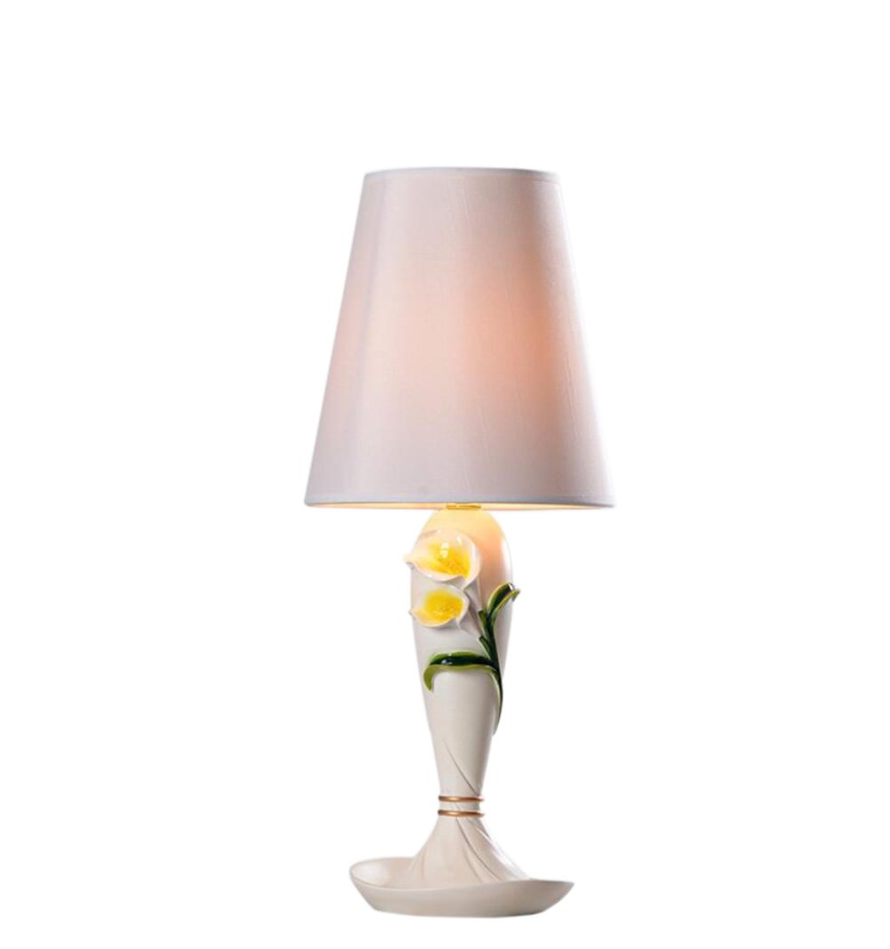 GL&G New flowers creative protection eye lamp fashion home decoration bedroom LED Button type lamp wedding button table lamp,C,Light Source Power:30W