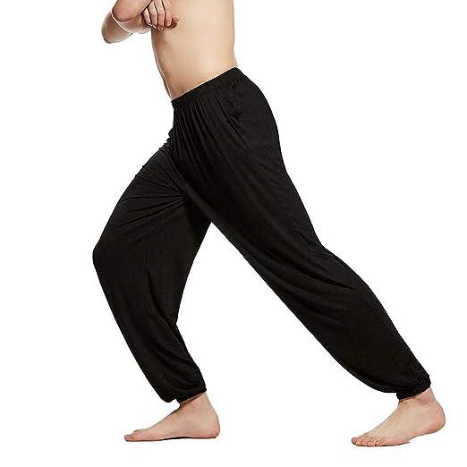 Amazon.com: Fanala Men Kung FuTai Chi Yoga Pants Soft Modal ...