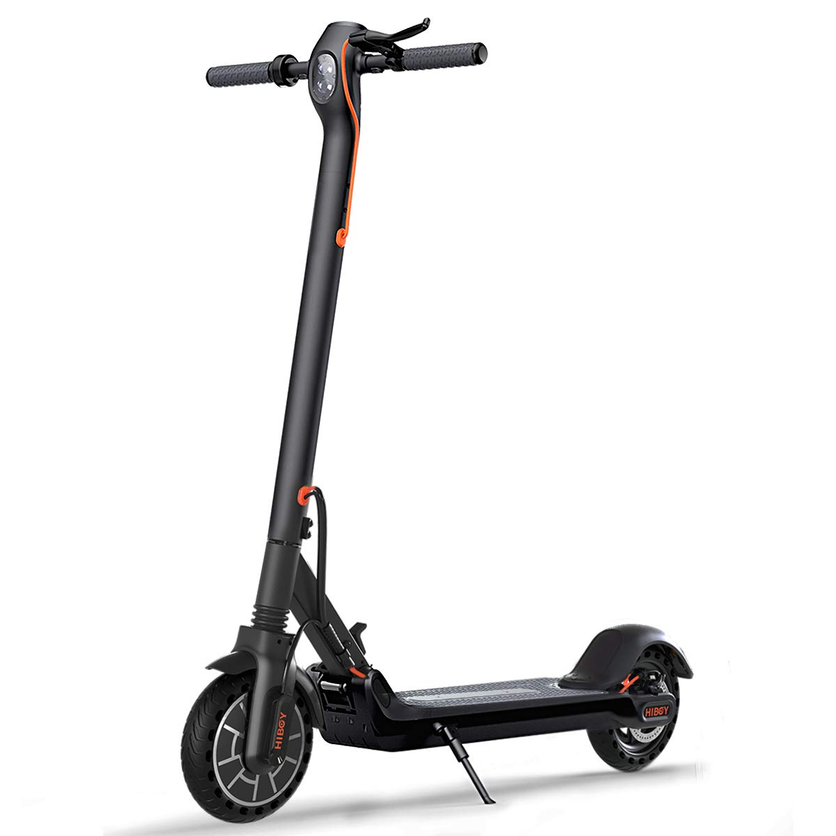 Hiboy MAX Electric Scooter - 350W Motor 8.5'' Solid Tires Up to 17 Miles & 18.6 MPH One-Step Fold, Adult Electric Scooter for Commute and Travel by Hiboy