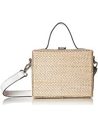 Evelyn Straw Mini Box Bag