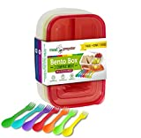 3 Compartment Meal Prep Containers - Premium BPA Free, Cute...