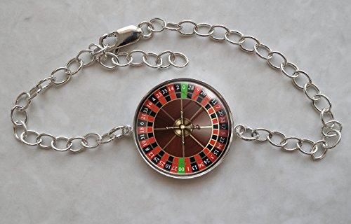 Roulette Wheel Sterling Silver Charm Bracelet (Sterling Silver Roulette)