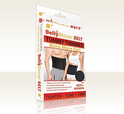 Weight Loss Belt Belly Fat Belt And Waist Trimmer 8in Black