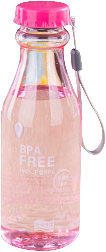 Luckiests 550ml Botella de Agua irrompible Oficina Deporte Botella de plástico Taza de Agua