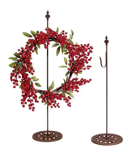 Darice Standing Metal Wreath Hanger - Rusted by Darice
