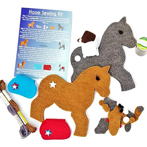 Wildflower Toys Horse Sewing Kit Kids - Felt Craft Kit Beginners ages 7+ - Makes 2 Felt Stuffed Horses by Wildflower Toys (Image #5)