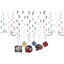 American Greetings Power Rangers Ninja Steel Hanging Party Decorations, Multicolor, One Size