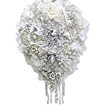 IFFO-White-Hydrangea-Drop-Brooch-Bouquet-Silver-Wedding-Bouquets-Crystal-Teardrop-Bridal-Bouquet-Pearl-Tassels-Decor