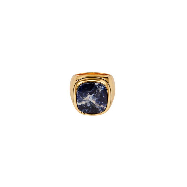 salmoph cadia Gold Color Metal Rings Women Simple Geo Hollow Rings ackable atement Ring
