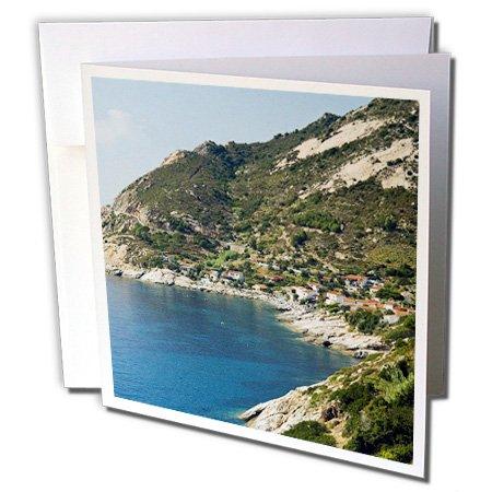 Danita Delimont - Coastlines - Coastline, Chiessi, Isola dElba, Tuscany, Italy - EU16 NTO0516 - Nico Tondini - 6 Greeting Cards with envelopes (gc_137953_1)