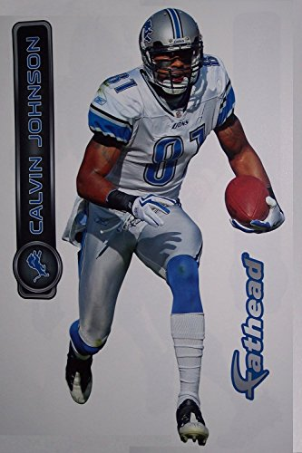 Calvin Johnson Fathead Detroit Lions Official NFL Vinyl Wall Graphic 16''x9'' by FATHEAD