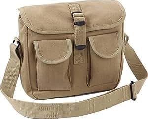 Rothco Canvas Ammo Shoulder Messenger Bag - Khaki