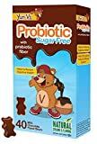 YUM-V's Probiotic for Kids, Milk Chocolate Flavor (40 Ct); Children's Daily Dietary Supplement Chewables with Prebiotic Fiber, Sugar Free, Kosher, Halal, Gluten Free For Sale