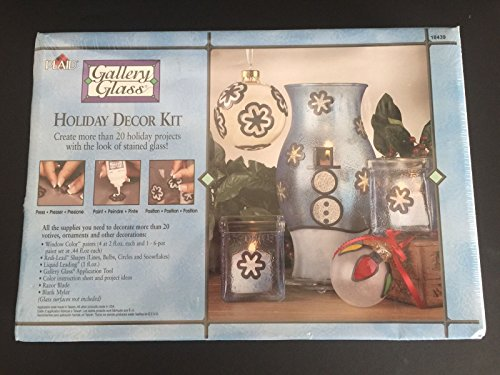 PLAID Gallery Glass Holiday Decor Kit. Create more than 20 holiday projects with the look of stained glass!