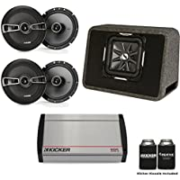 Kicker 40KX8005 800 Watt 5-channel amp, Two Pairs of KS 6.5 Coaxial Speakers, & a 12 Kicker CompR In Ported Enclosure