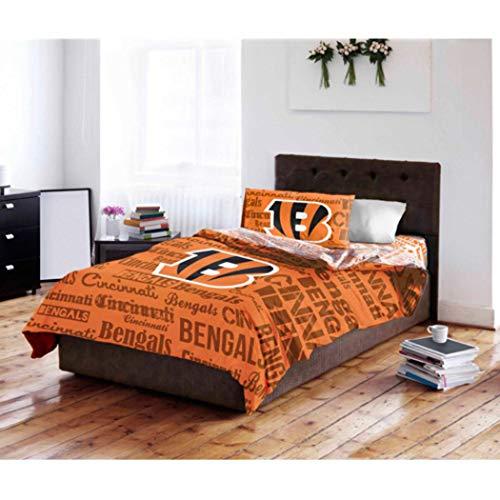 Cincinnati Bengals Full Comforter & Sheets (5 Piece NFL Bedding)