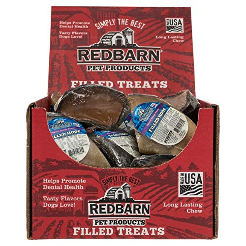 Filled Hooves Beef - Redbarn 10 Pack of Peanut Butter Filled Hooves, Natural Dog Chew Treats