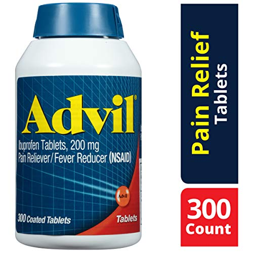 Advil (300 Count) Pain Reliever / Fever Reducer Coated Tablet, 200mg Ibuprofen, Temporary Pain Relief (Best Otc Pain Reliever For Toothache)